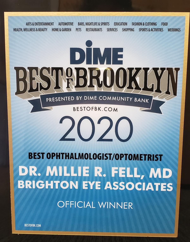 Dr. Millie Fell, MD, FACS - Brighton Eye Associates - Dime Best of Brooklyn 2020