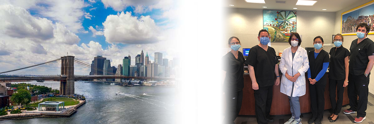 Brighton Eye Associates eye care doctors and a view of NYC from Brooklyn, NY